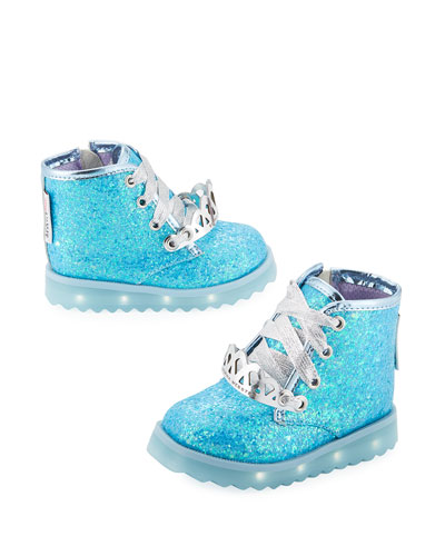 Wiley Royalty Leather Boot, Blue, Toddler/Youth Sizes 5T-2Y