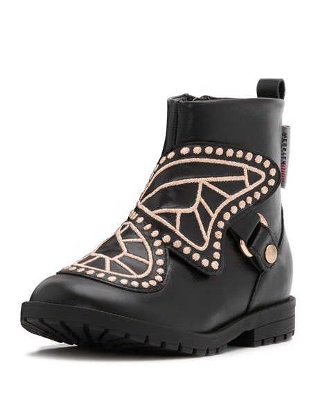 Sophia Webster Karina Leather Boot, Black, Toddler/Youth