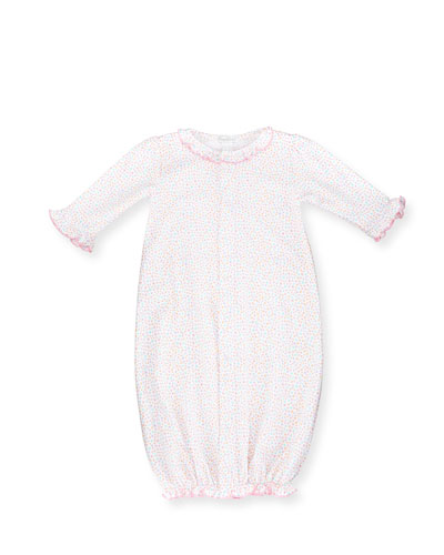Darling Dachshunds Convertible Pima Sleep Gown, Pink, Size Newborn-Small