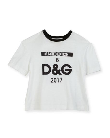 Dolce & Gabbana Limited Edition Logo Print Tee,