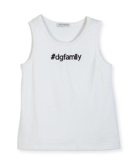 Dolce & Gabbana #DGFamily Cotton Tank, Size 8-12