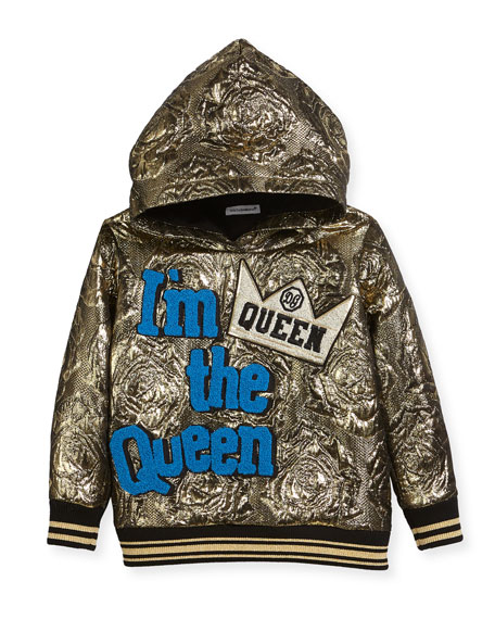 Dolce & Gabbana I'm the Queen Metallic Hoodie,