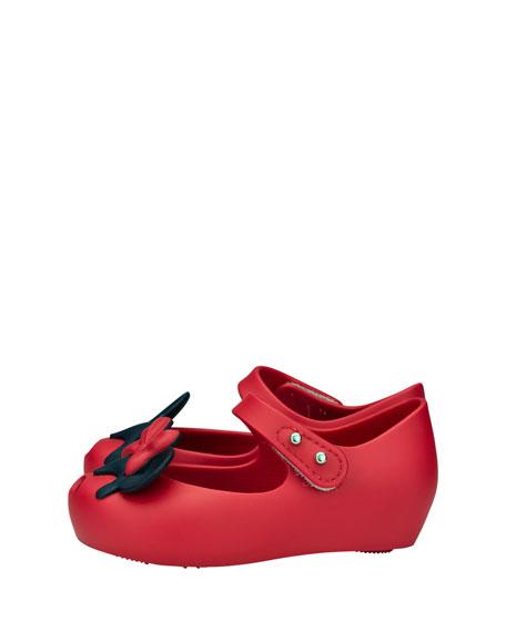 Ultragirl + Disney® Twins II Mary Jane Flat, Red, Toddler