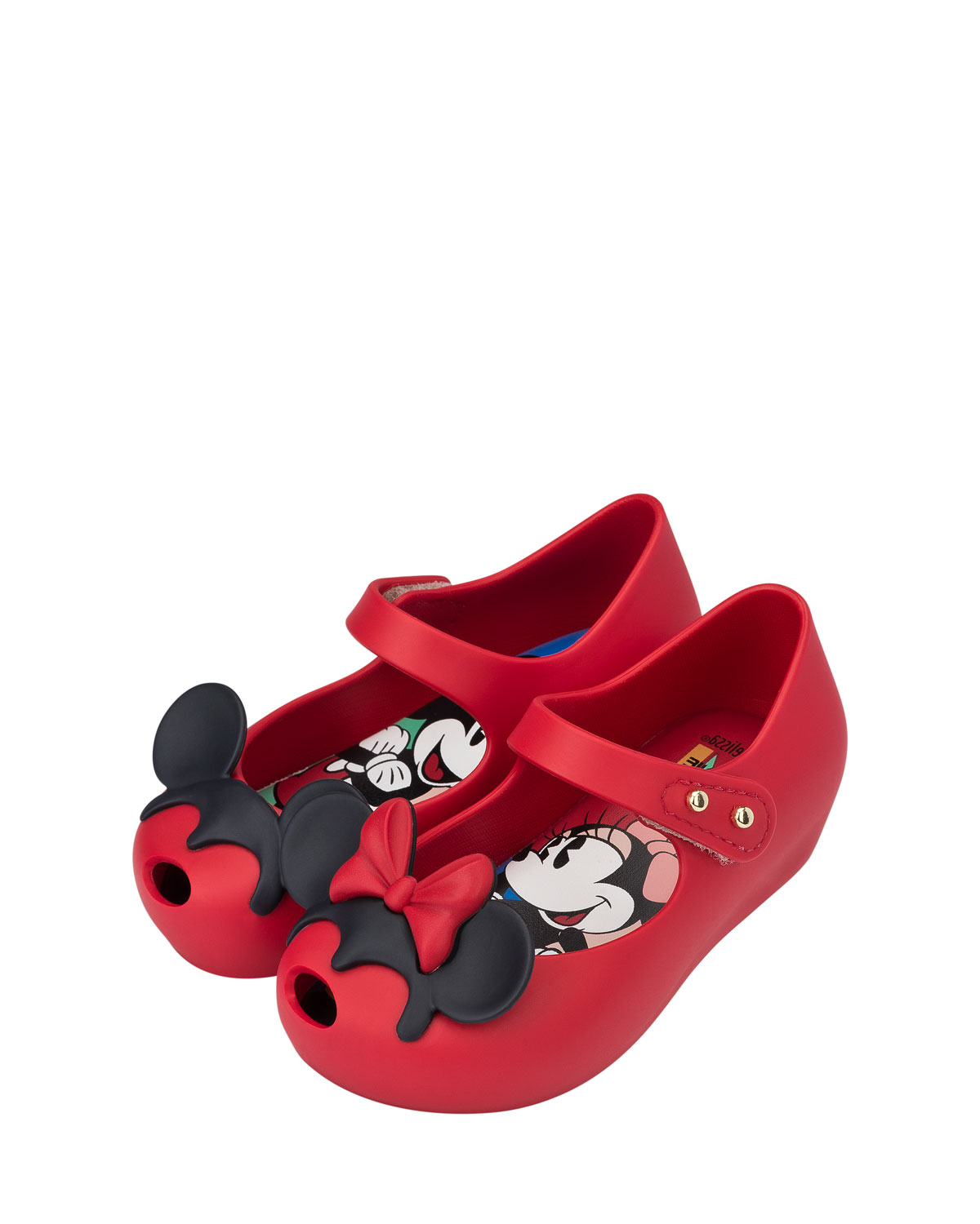 5e8e84acc Mini Melissa Ultragirl + Disney® Twins II Mary Jane Flat, Red, Toddler