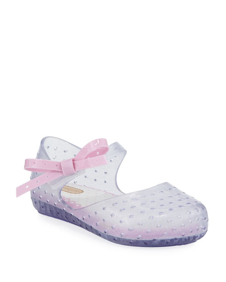 Mini Melissa Perforated Mary Jane Flat w/ Bow,