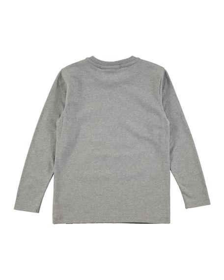 Remy Kaju Long-Sleeve Jersey Tee, Gray, Size 4-10