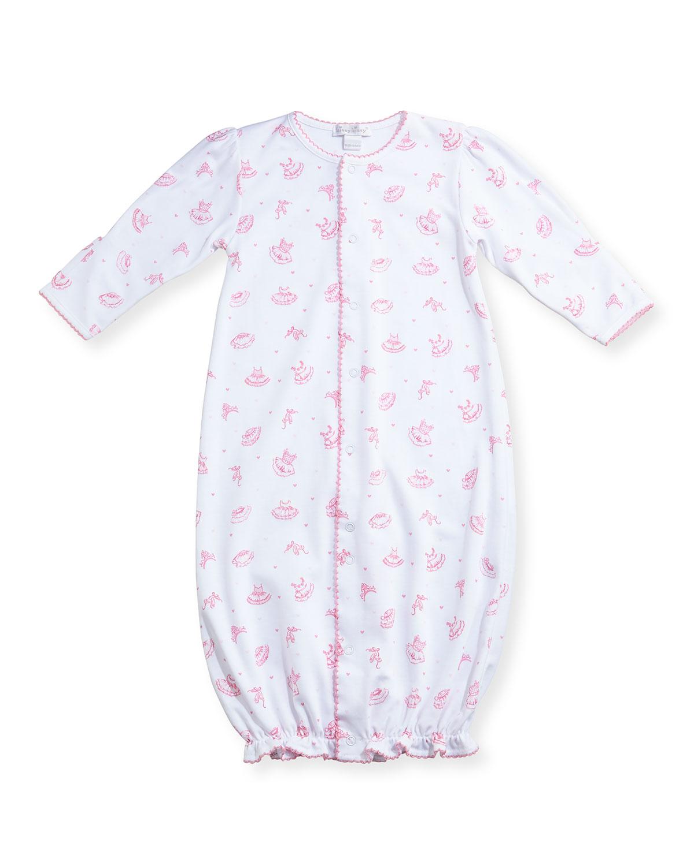 5c42f3e2dee4 Kissy Kissy Tiny Tutus Printed Pima Convertible Sleep Gown