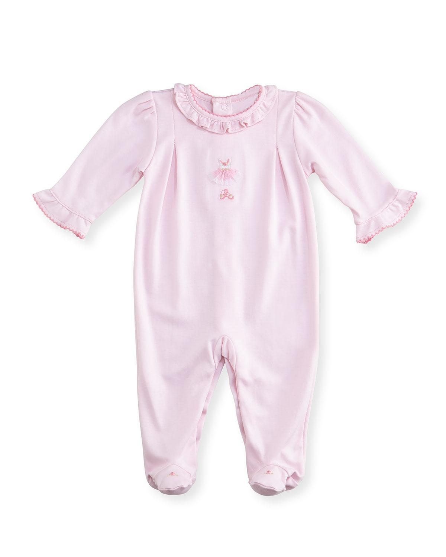 2f1e0545654a Kissy Kissy Tiny Tutus Embroidered Footie Pajamas