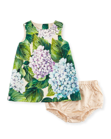 Dolce & Gabbana Taormina Dress w/ Bloomers, Green,