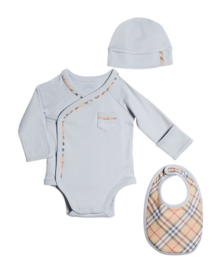 Burberry Konner 3-Piece Layette Set, Size 1-6 Months