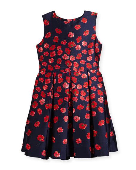 Oscar de la Renta Degrade Poppies Mikado Party