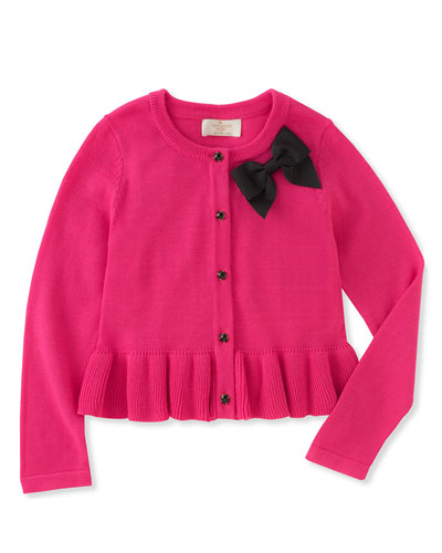 peplum bow cardigan, size 12-24 months