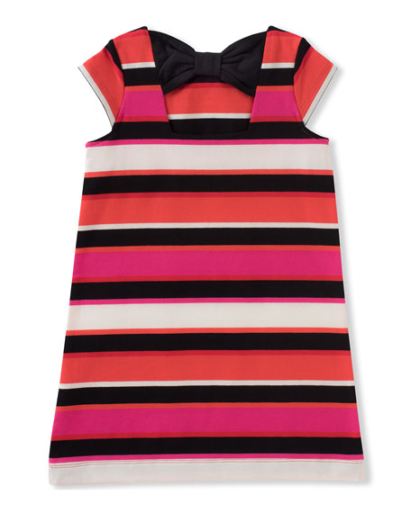 bow-back striped shift dress, size 2-6