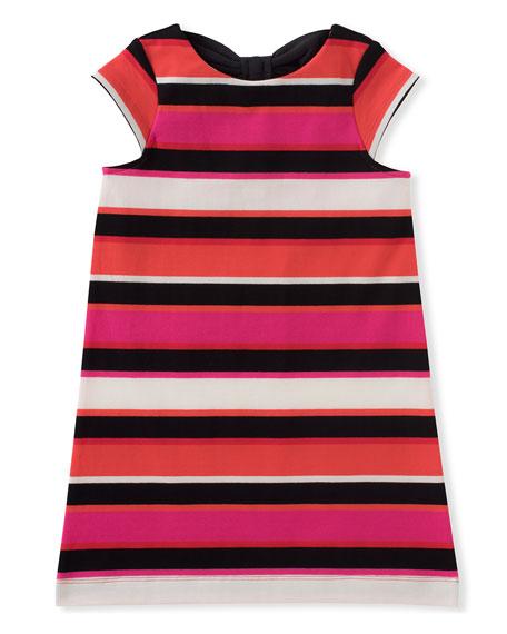 bow-back striped shift dress, size 2-6