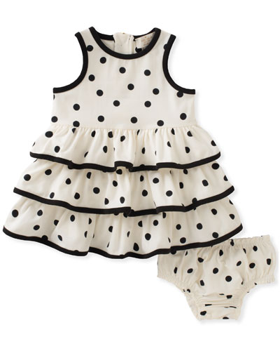 Tiered Ruffle Dress w/ Bloomers, Size 12-24 Months