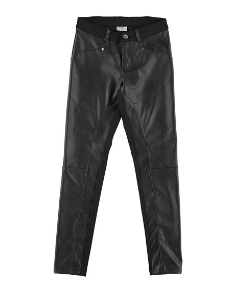 MAYORAL Faux-Leather Paneled Leggings, Size 8-16
