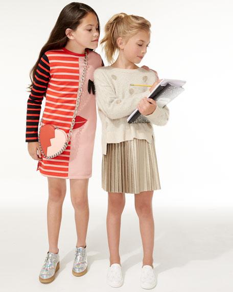 Metallic Polka-Dot Sweaterdress, Size 8-16