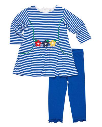 Stripe Dress w/ Solid Leggings, Size 6-24 Months