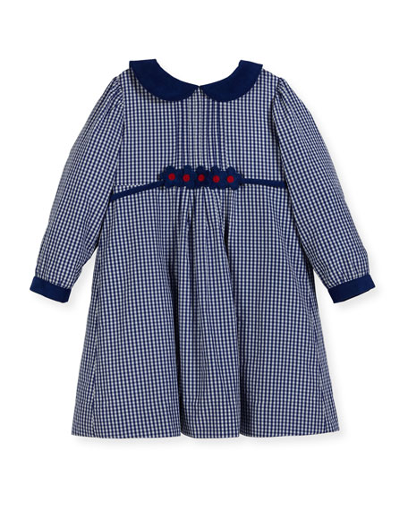 Florence Eiseman Checkered Dress w/ Floral Detail, Size