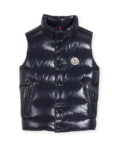 Vented-Hem Quilted Puffer Vest, Size 8-14