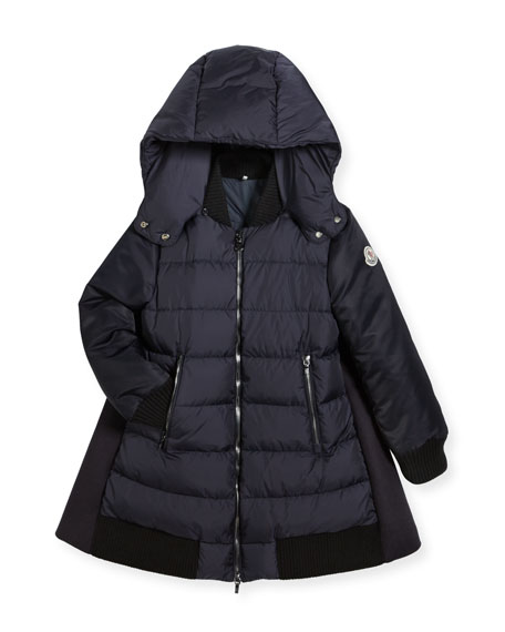 Moncler Blois Quilted and Wool-Blend Puffer Jacket, Size