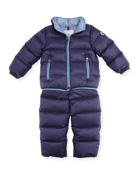 Lucien Quilted Puffer Coat & Pants, Size 12M-3T