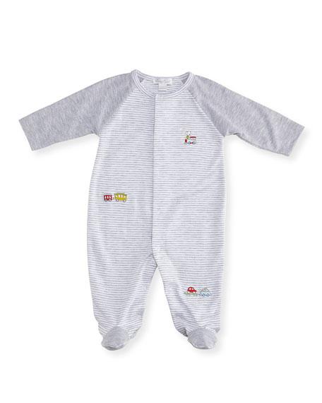 Kissy Kissy Caboose Striped Footie Pajamas, Size Newborn-9M