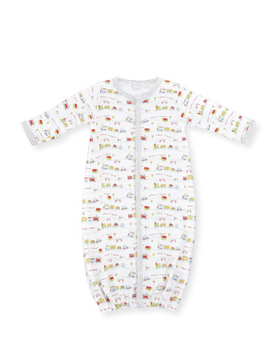 Red Caboose Convertible Pima Sleep Gown, Size Newborn-Small