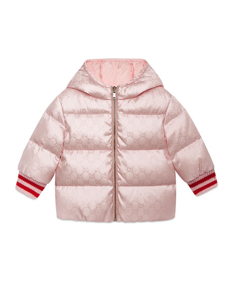 Gucci GG Reversible Hooded Puffer Coat, Size 12-36