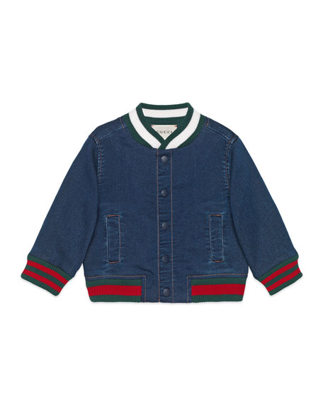 Gucci Denim Bomber Jacket, Size 9-36 Months