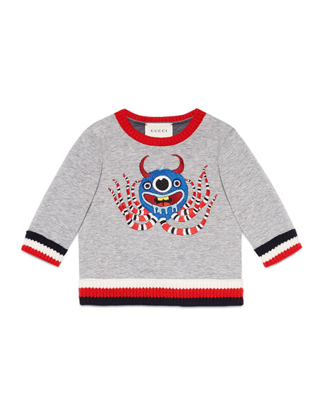 Gucci Long-Sleeve Octopus Sweatshirt, Size 12-36 Months