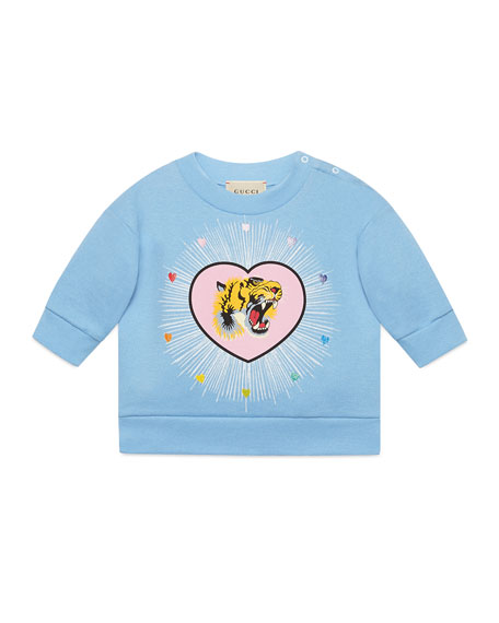 Gucci Blind For Love Tiger Heart Sweatshirt, Size