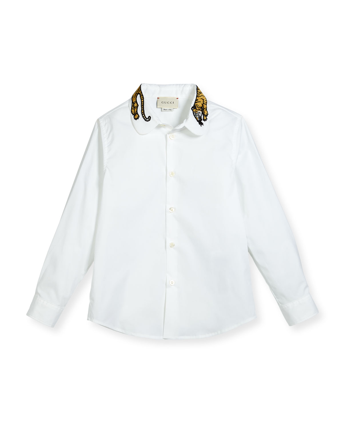 e3014458bef Gucci Long-Sleeve Button-Down Shirt w  Tiger Collar