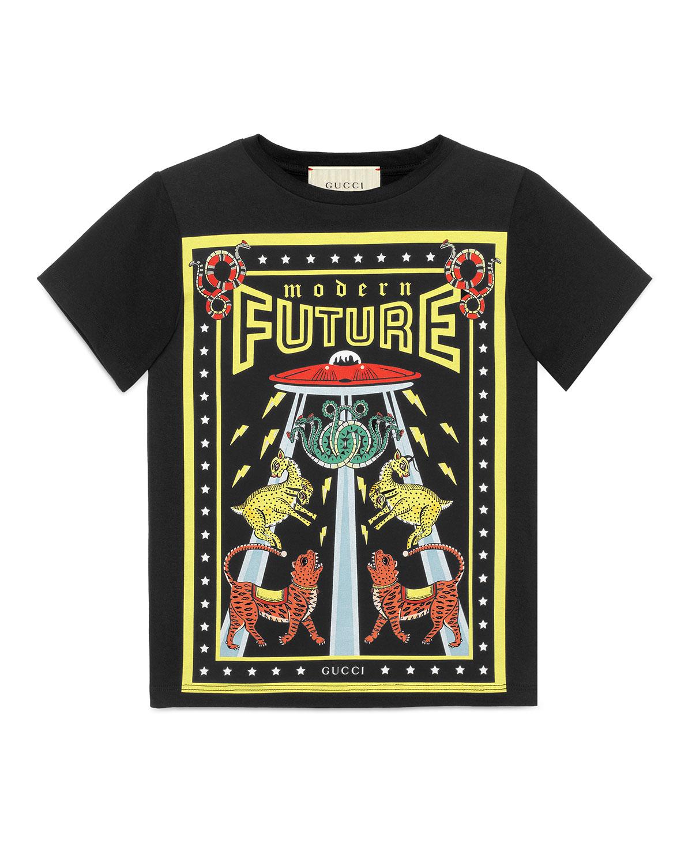 698fc7964c5 Gucci Modern Future Short-Sleeve T-Shirt
