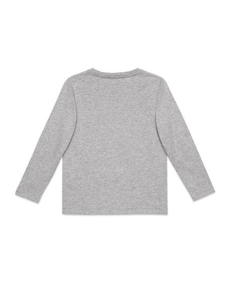 Long-Sleeve Eagle-Print T-Shirt, Size 4-12