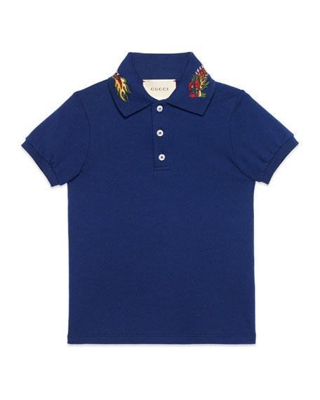 Short-Sleeve Dragon Polo, Size 4-12