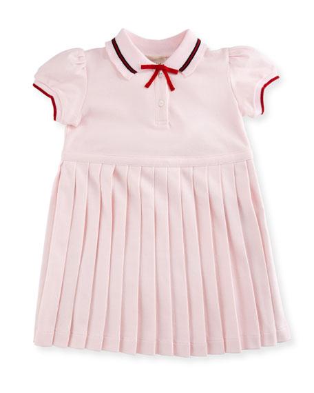 Gucci Sylvie Accordion-Pleat Polo Dress, Size 6-36 Months