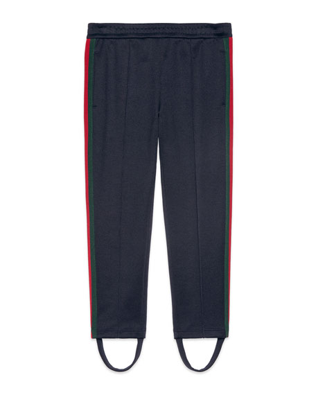 Gucci Stirrup Web Jogger Pants, Size 4-12