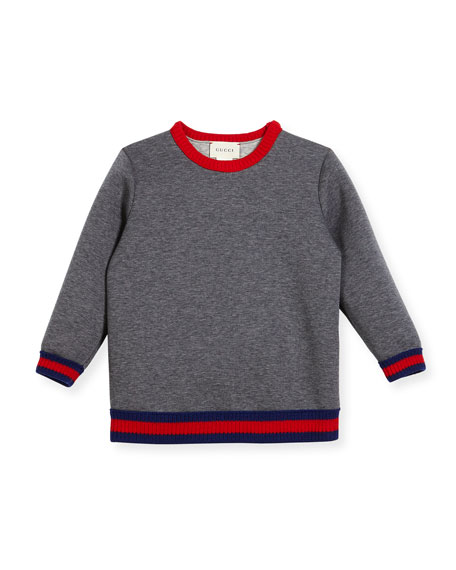 Web Knit Trim Sweatshirt, Size 9-36 Months