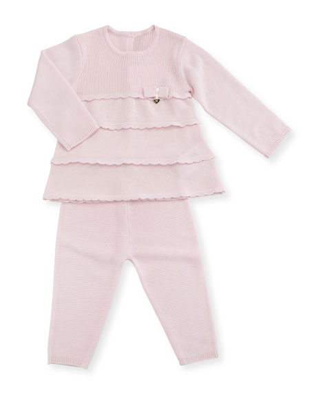 MAYORAL Knit Tiered Dress w/ Leggings, Size 1-9