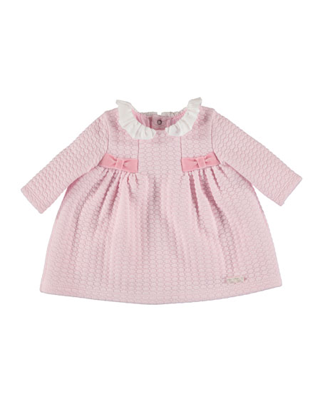 MAYORAL Long-Sleeve Quilted Knit Dress, Size 4-12 Months