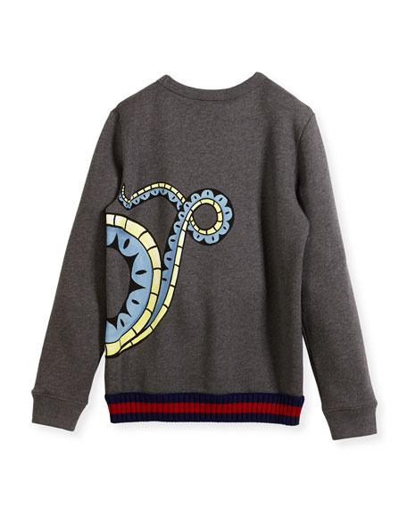 Three-Headed Dragon Web-Trim Sweatshirt, Size 4-12
