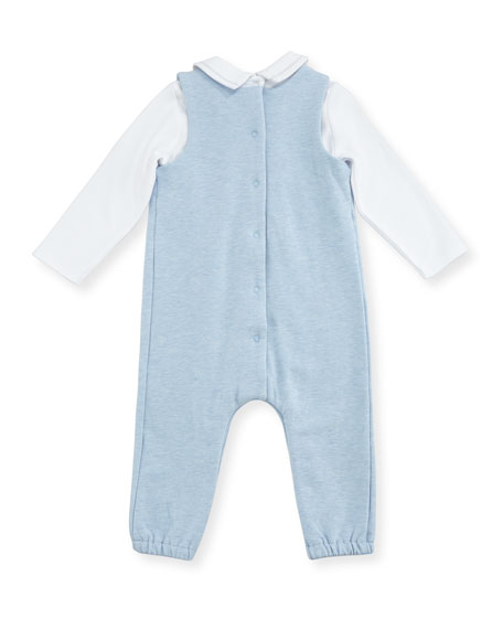 Mock-Shirt Overalls w/ Check Jacket, Size 1-12 Months