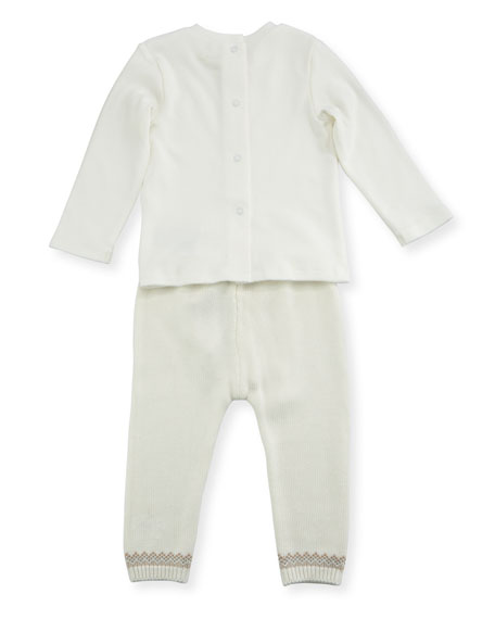 Fair Isle Knit Layette Set, Size 1-12 Months