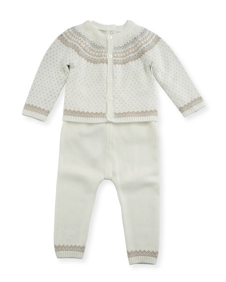 MAYORAL Fair Isle Knit Layette Set, Size 1-12