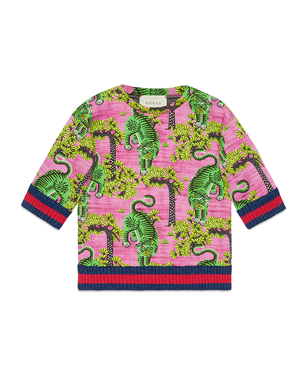d57fa4db581 Gucci Bengal Print Cotton Sweatshirt