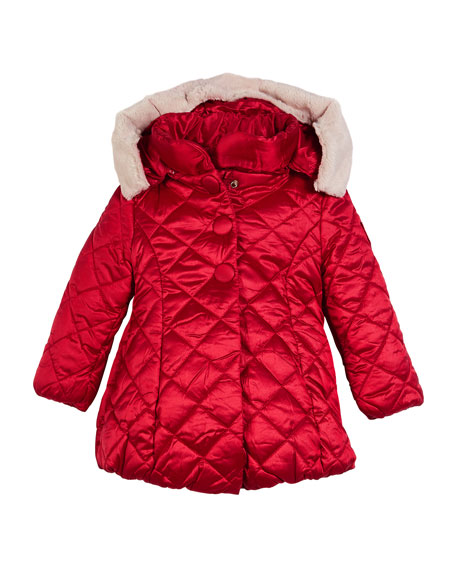 Knitted Puffer Jacket, Size 3-7