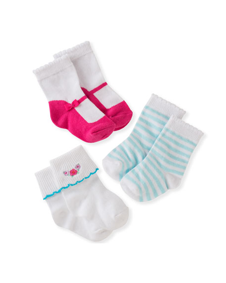 kate spade new york three-pack boxed sock set,
