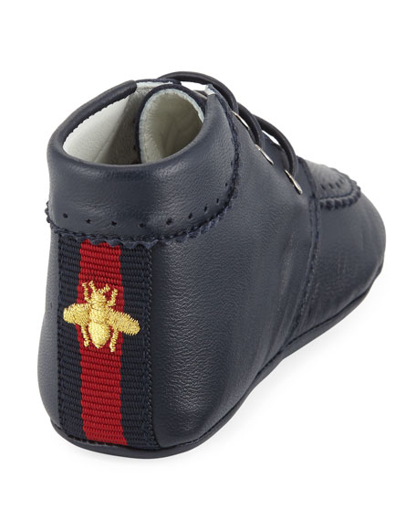 Leather Bootie with Bee, Infant Sizes 0-12 Months