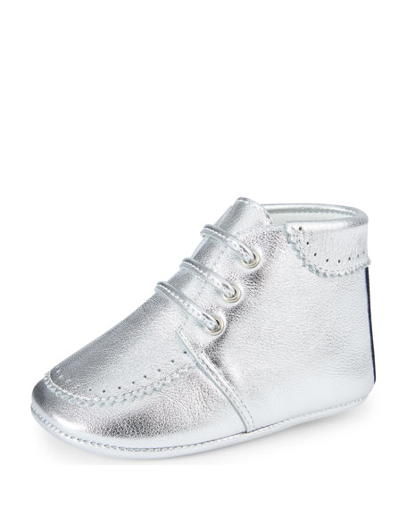 Gucci Metallic Leather Bootie, Infant Sizes 0-12 Months